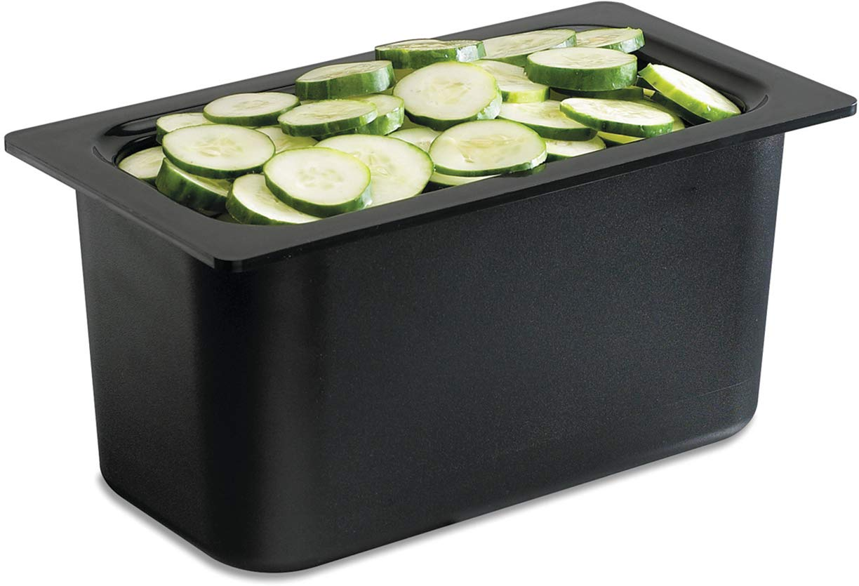 San Jamar (CI7003) Chill-It Food Pan (1/3 Size, 135-Ounce Capacity, Black)