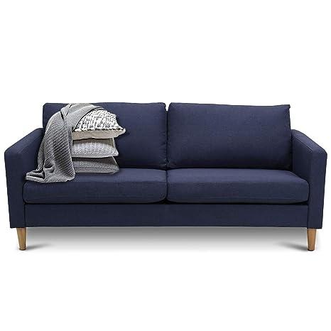 Amazon.com: Giantex Sofá tapizado moderno, sofá de tela de ...