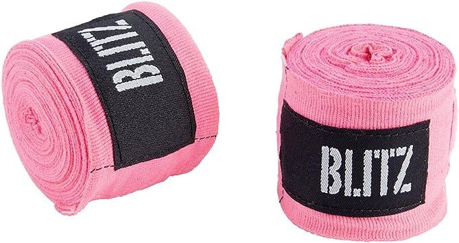 Blitz Vendas para las manos, tamaños:304,8 ó 457,2 cm, para boxeo, kick boxing, muay thai, etc., rosa: Amazon.es: Deportes y aire libre