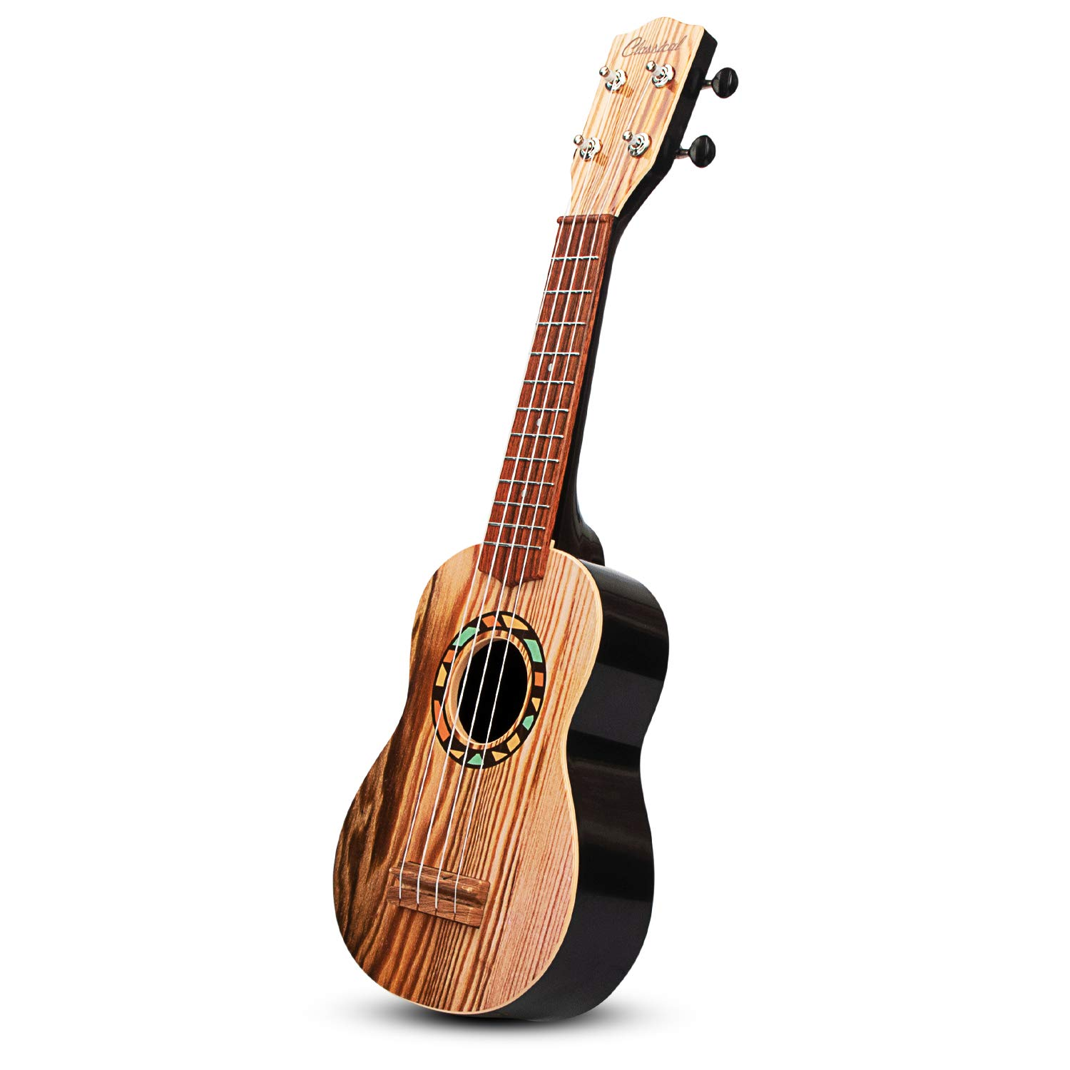 aPerfectLife 21'' Kids Ukulele Guitar Toy 4 Strings Mini Guitar Children Musical Instruments Educational Learning Toys with Picks and Strap for Toddler Kids Boys Girls Beginner Starter (Burlywood) by aPerfectLife