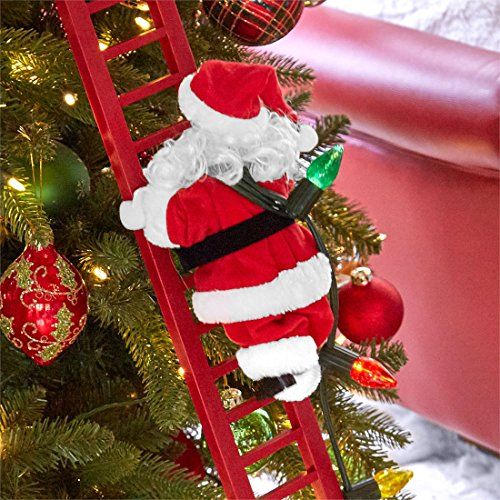 Brylanehome Animated Musical Climbing Santa (Multi,0) by BrylaneHome