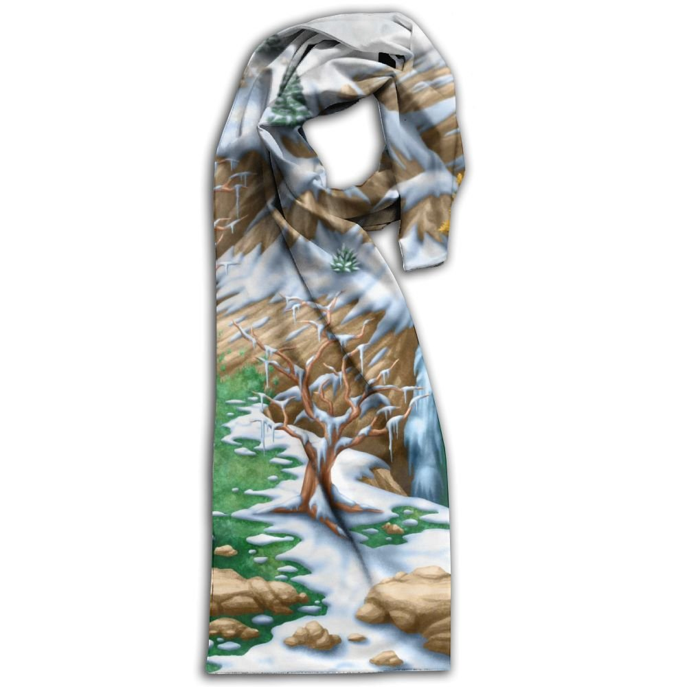 Unique Picture Of Winter Snow On Mountain Top Adult Unisex Double Side Printing Fashion Scarves 71'' X 10''