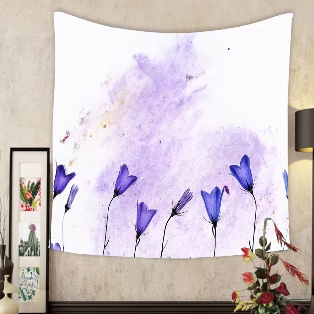 Evelyn C. Connor Custom?tapestry lovely colorful illustration with floral elements useful design element