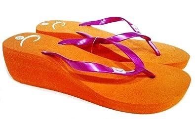dema , Damen Zehentrenner Orange orange 38, Orange - orange - Größe: 40