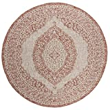 Cheap Safavieh Courtyard Collection CY8751-36512 Light Beige and Terracotta Indoor Outdoor Round Area Rug (6'7 in Diameter)