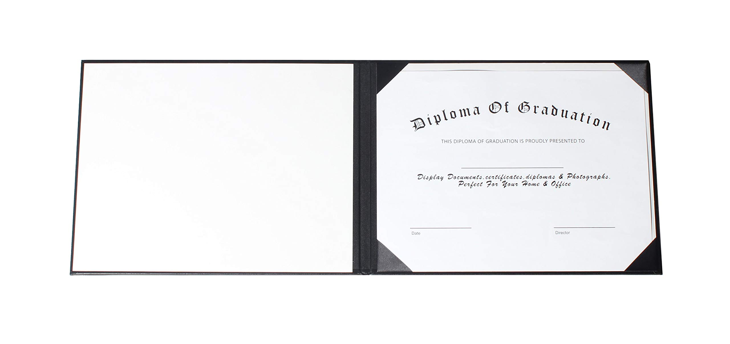 GraduationService Smooth Diploma Certificate Cover 8 1/2'' x 11'' (Black) by GraduationService (Image #4)