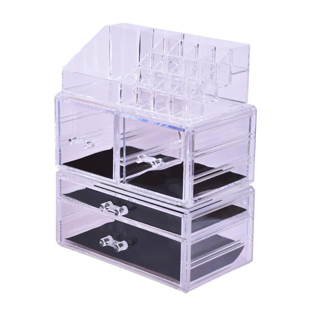 Makeup Storage Shelf Box, RDTIAN Makeup Organizer 3 Pieces Acrylic Cosmetic Storage Drawers and Jewelry Storage by RDTIAN