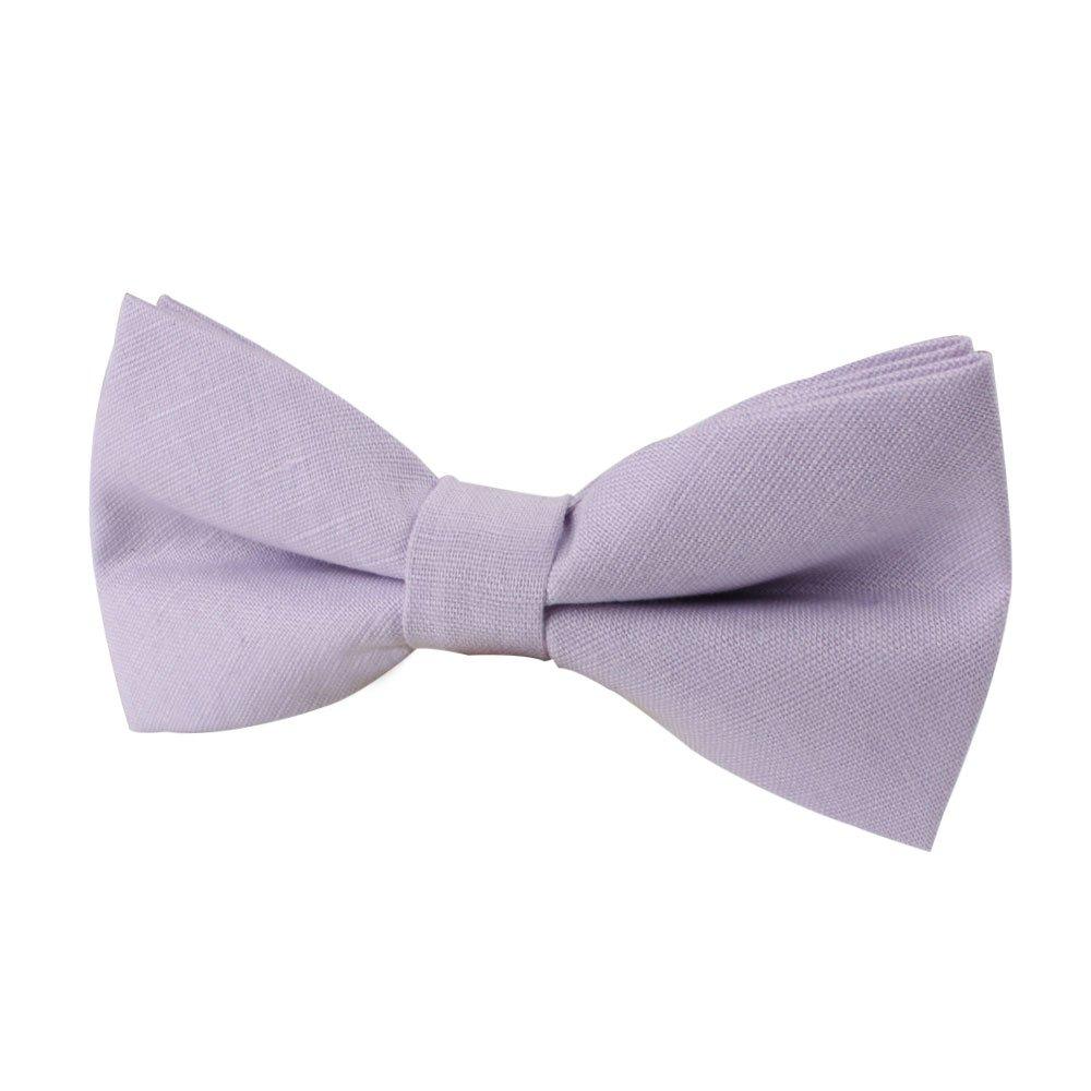AUSCUFFLINKS Sonrojo púrpura pajaritas lino corbatas | pajaritas ...