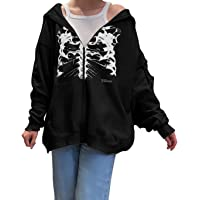 ASLBSBOXWOMEN Vrouwen Y2K Grafische Hoodie Tops Lange Mouw Zip Up Sweatshirt met Pocket Vintage Esthetische Trui Jas 90s…