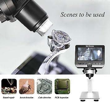 Nicekko 2 megapíxeles microscopio Digital LCD, de 4,3 ...