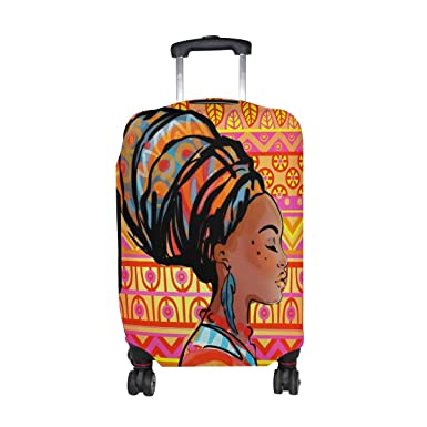 177a829db307 DEYYA African Girl Spandex Travel Luggage Cover Baggage Suitcase Protector  Fits 18-32 Inch