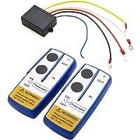 Romacci Kit de controle remoto de guincho de console sem fio universal 12V 50 pés para ATV SUV