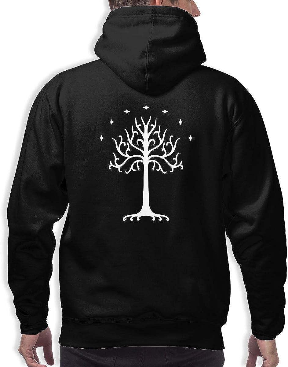 White Tree of Gondor Mens Hooded Sweatshirt Pullover Hoodies Sweater Blouses Tops