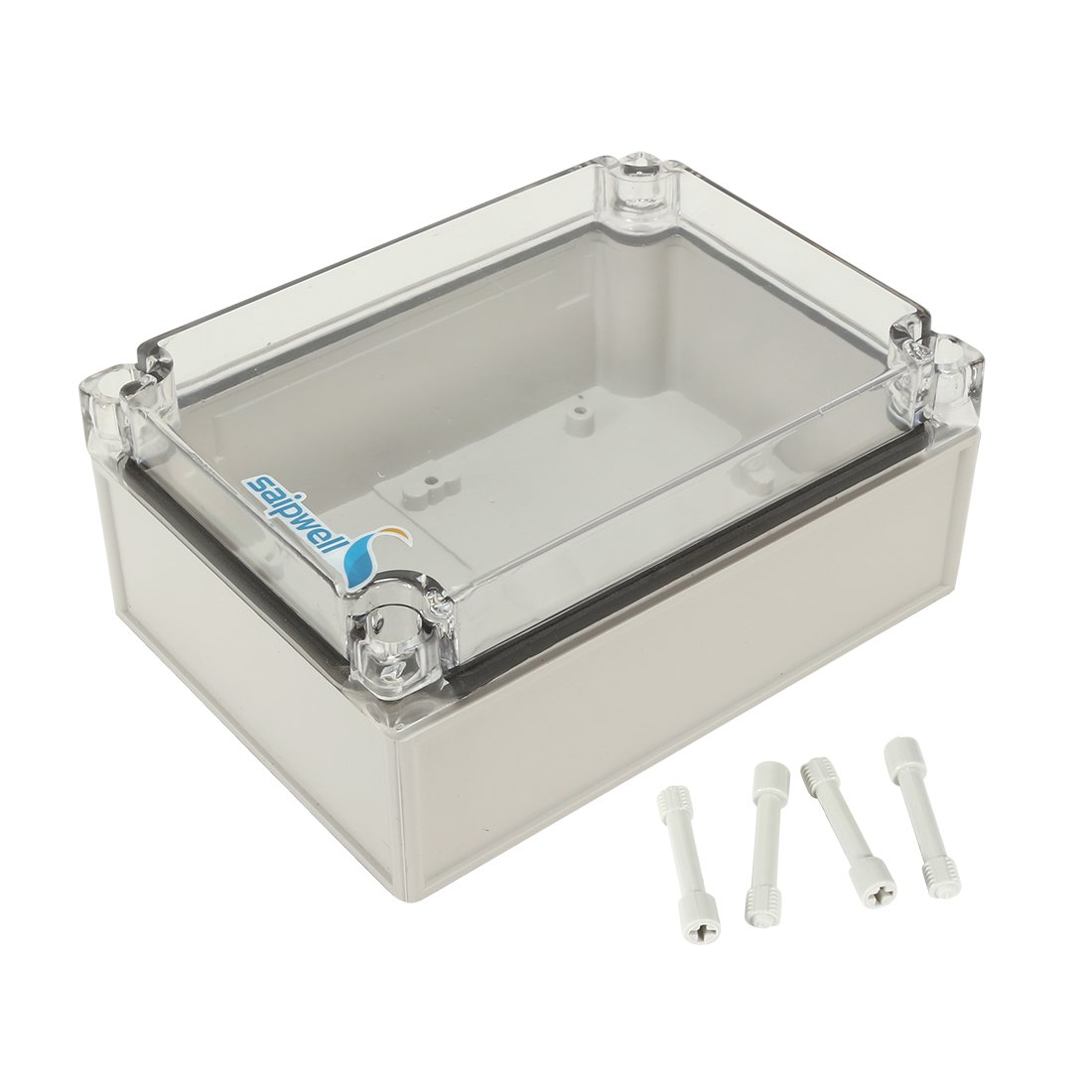 uxcell 4.9''x6.9''x2.94''(125mmx175mmx75mm) ABS Junction Box Universal Project Enclosure w PC Transparent Cover