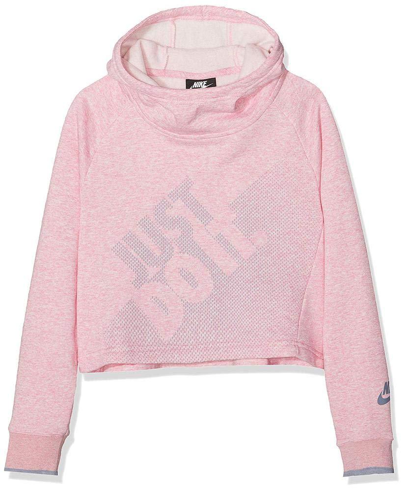 Nike G NSW Crop PE Gx Sudadera, Niñas, Rosa (htr/Ashen Slate), XL: Amazon.es: Deportes y aire libre
