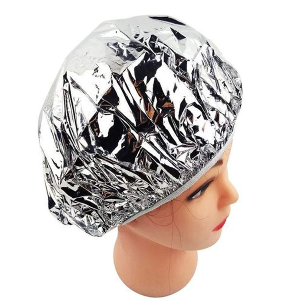 meiyuan Disposable Tinfoil Elastic Band Hair Dye Frosting Cap Hair Colouring Hat Hot Spring Bath Head Cover Silver