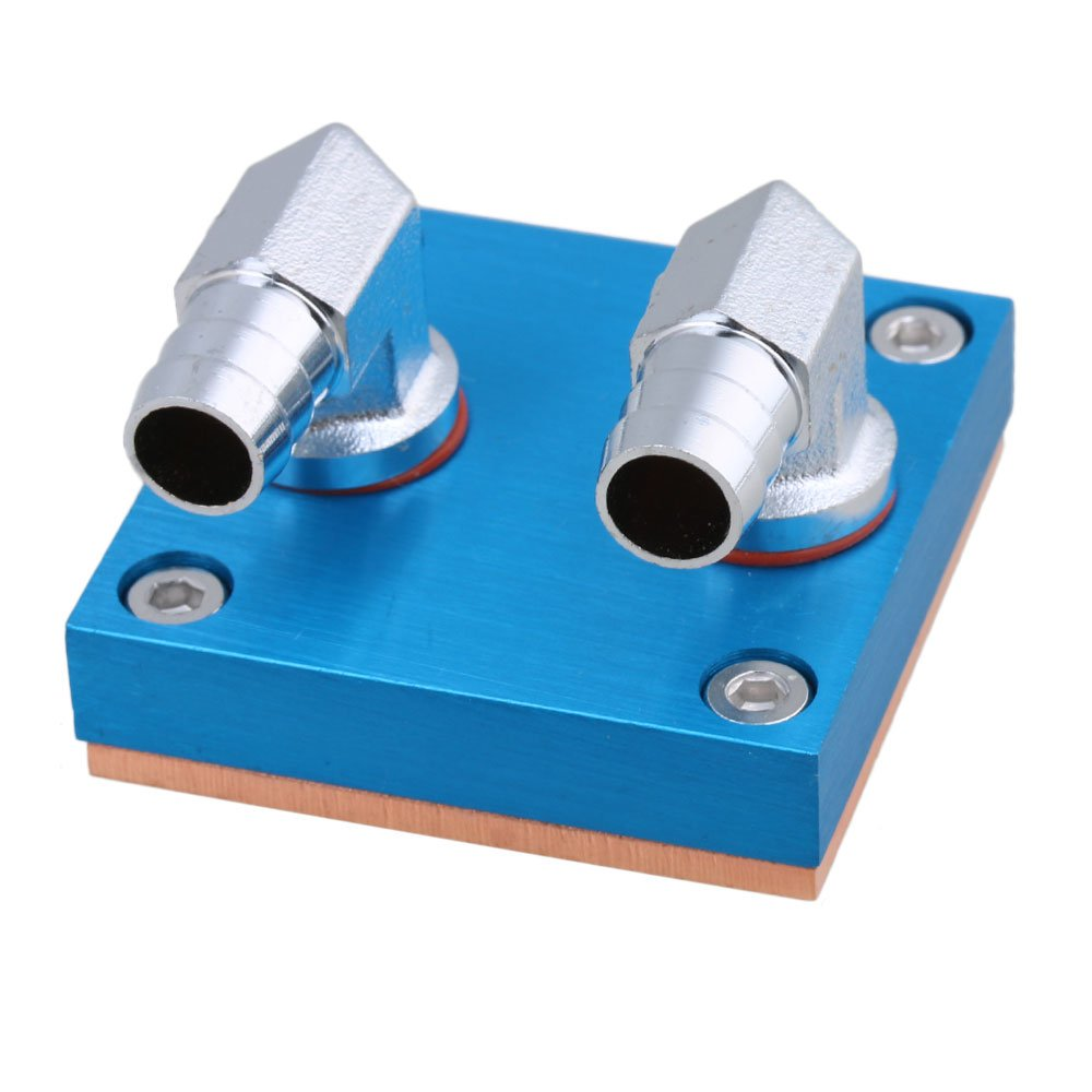 Yibuy 50mm x 50mm Pure Copper Base Water Cooling Block Waterblock for CPU Cooler