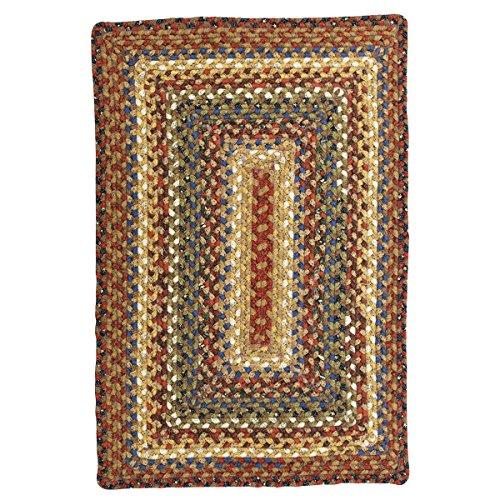 Homespice Rectangular Cotton Braided Rugs, 8-Feet by 10-Feet, Biscotti