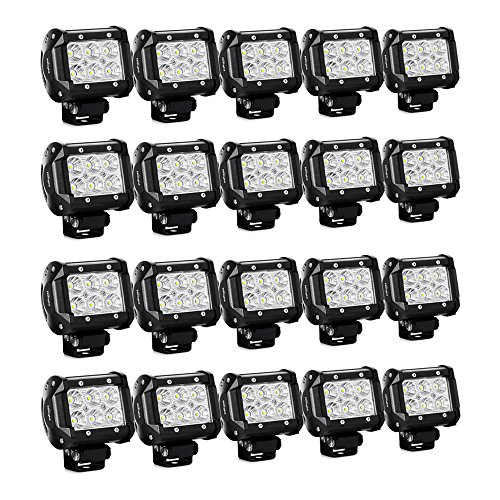 "(Nilight 20PCS 18W 4"" Flood Led Light Bars Driving Fog Light Off Road Lights Boat Lights Driving Lights Led Work Lights SUV Jeep Lamps, 2 Years Warranty)"