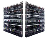 2 PIECES Pana Black Metal Nail Polish Wall Mounted 6 Tier Organizer Display Rack (Fit Up to 100 Nail Polish Bottles) Unbreakable Heavy Duty