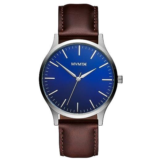 mvmt Watches 40 Series Reloj de hombre Blue/Brown Leather mt01bbl: Amazon.es: Relojes