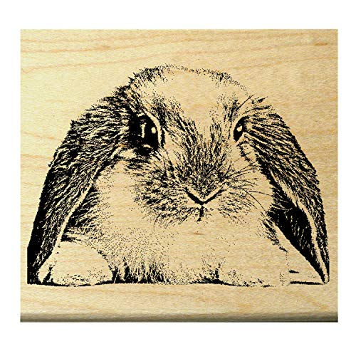 (P22 Bunny - Rabbit rubber stamp)