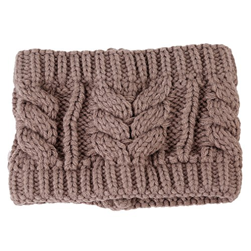 UNKE Winter Warm knitting wool hat headgear Women's Ladies Knit Crochet flora Twist Style Headband Head Wrap