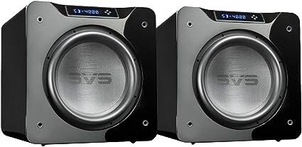 "SVS SB-4000 13.5/"" 1200W Sealed Box Subwoofers Premium Black Ash Pair"