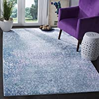 Safavieh Mystique Collection MYS977F Vintage Watercolor Blue and Multi Distressed Area Rug (4 x 6)