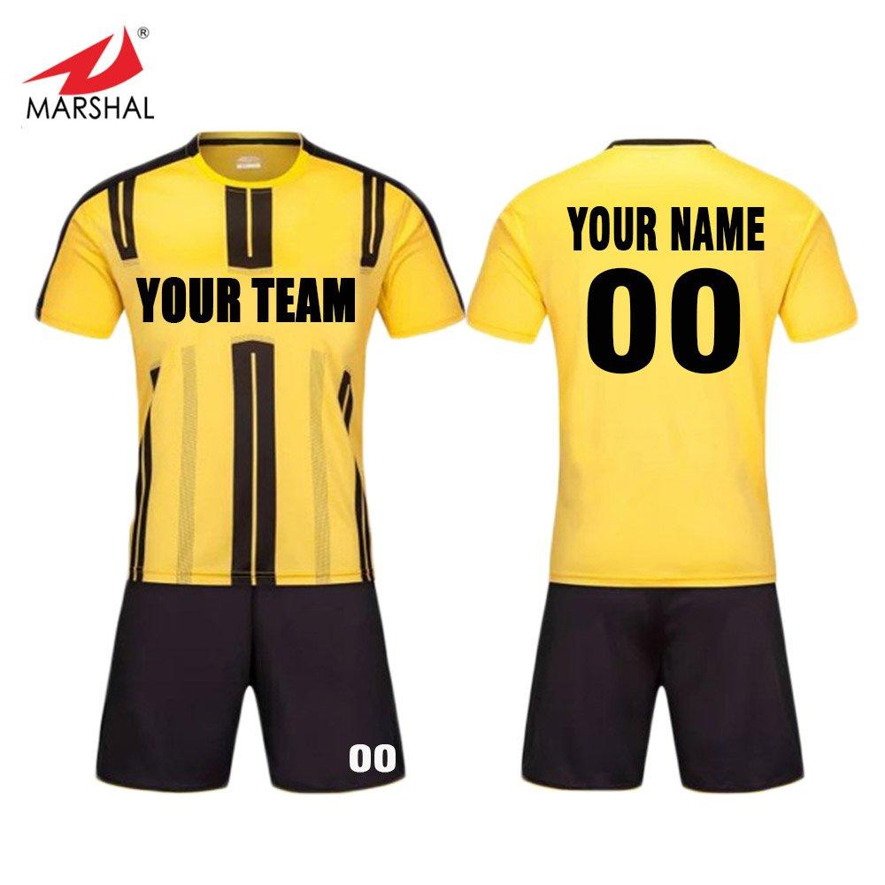 9ca3667ea ZHOUKA Custom football club team uniforms training suit youth soccer kit  shirt player version soccer jersey  Amazon.co.uk  Sports   Outdoors