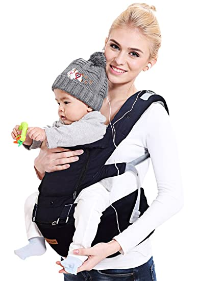 e5e9ac850940 Ergonomic Baby Carrier with Hip Seat for Girls/Kids,Baby Backpack Carrier  Toddler 6 Comfortable & Safe...