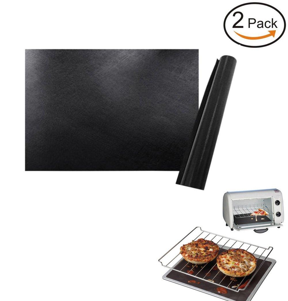 Vivian Oven Liner Non-Stick BPA Free BBQ Grill Baking Mats 40x50cm Set of 2PCS