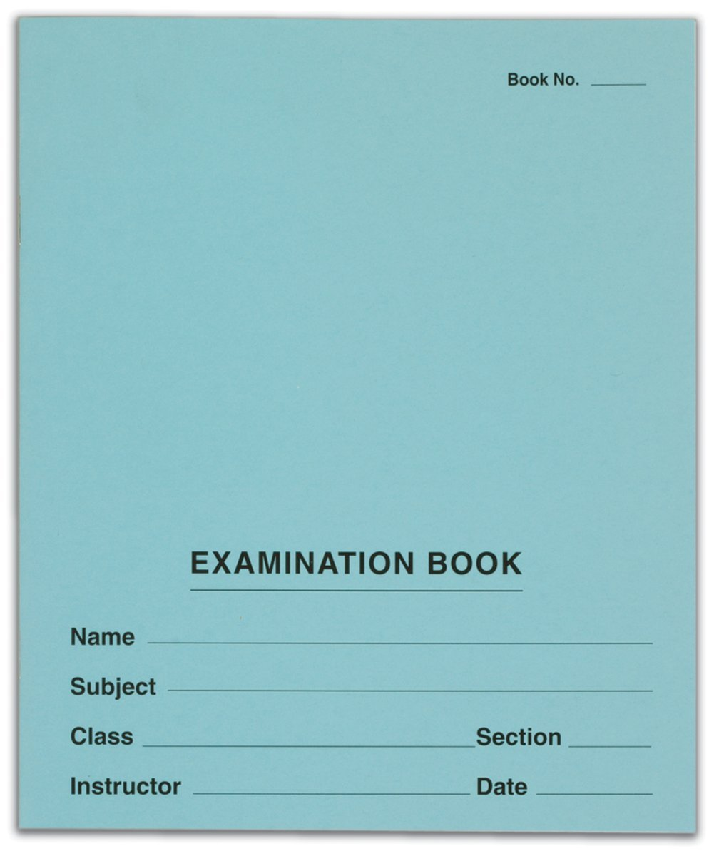 TOPS Second Nature Exam Books, Recycled, 7 x 8.5-Inch, 8 Sheets/16 Pages per Book, Blue, 50 Books per Pack (67000)