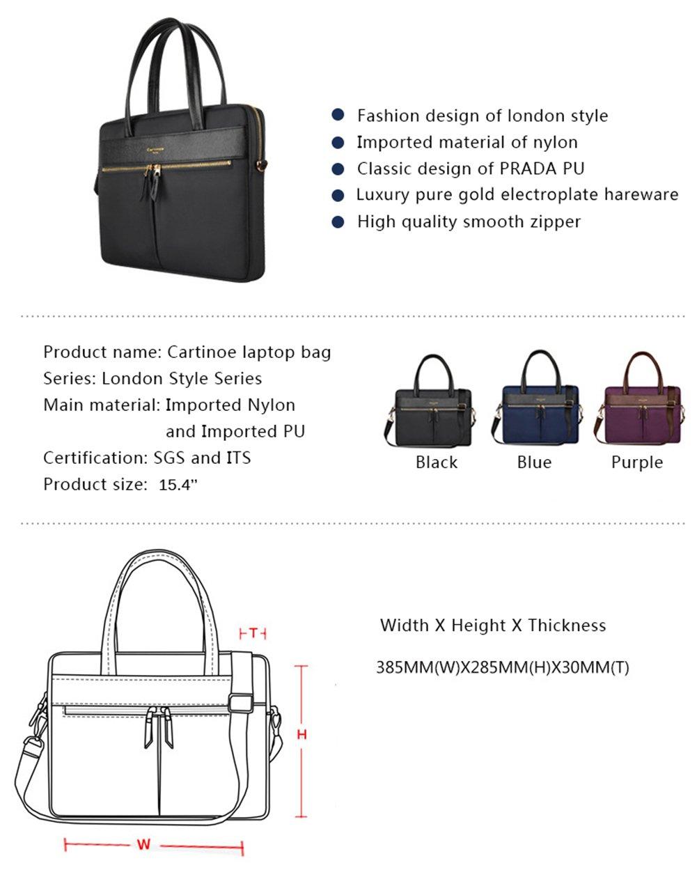 59ebed8b28aa Amazon.com: yiyinoe Luxury Ultrathin Laptop Bag for 14 15 inch MacBook  Ultrabook,Special Business Briefcase for Women,Sleek Fabric,Metallic  Zipper,Black: ...