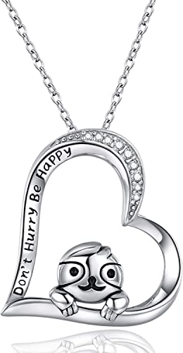 45cm // 18 inch 925 Sterling Silver Heart Pendant Necklace Design 17