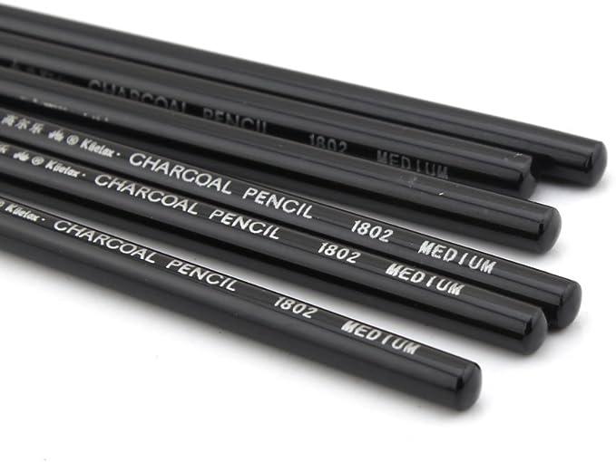 Lot de 12 crayons fusains/professionnels Owfeel pour dessin manga et esquisse couleur noire