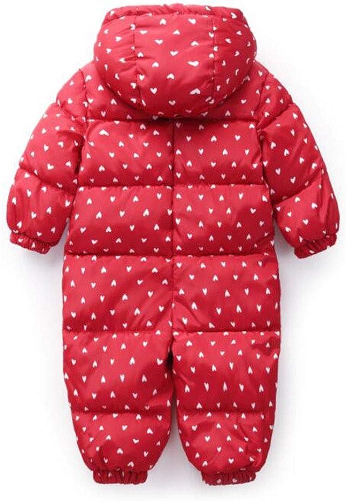 TAIYCYXGAN Unisex Baby Boys Girls Puffer Hooded Jacket Jumpsuit Fleece Lined Winter Warm Snowsuit Romper Zip Up