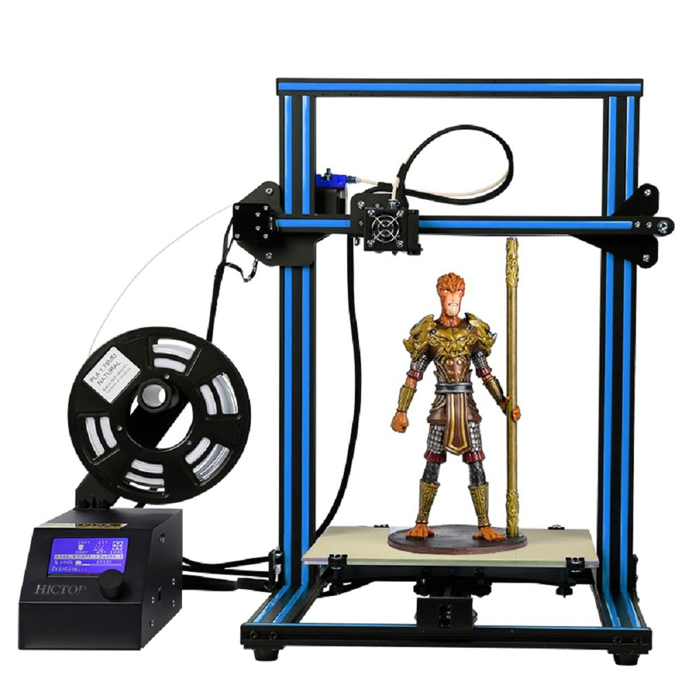 HICTOP Creality CR-10 3D Printer Prusa I3 DIY Kit Aluminum Large Print Size 300x300x400mm by HICTOP