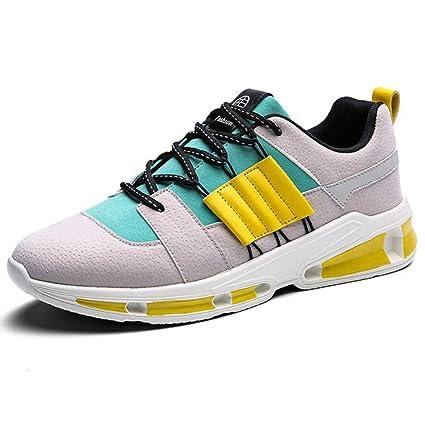 GAOLIXIA Zapatillas de Deporte de Cuero para Hombres Zapatillas de Deporte Transpirables Zapatos Tenis Deportes al