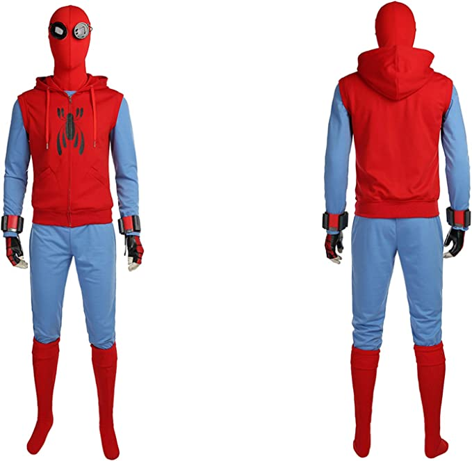 QWEASZER Spider-Man Homecoming Disfraz (Traje casero) Marvel ...