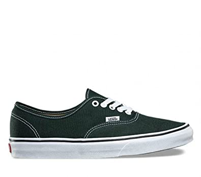 5da4c1f1023ebc Vans Authentic Unisex Scarab Dark Green True White Skateboarding Shoes  Green Size  10 Women