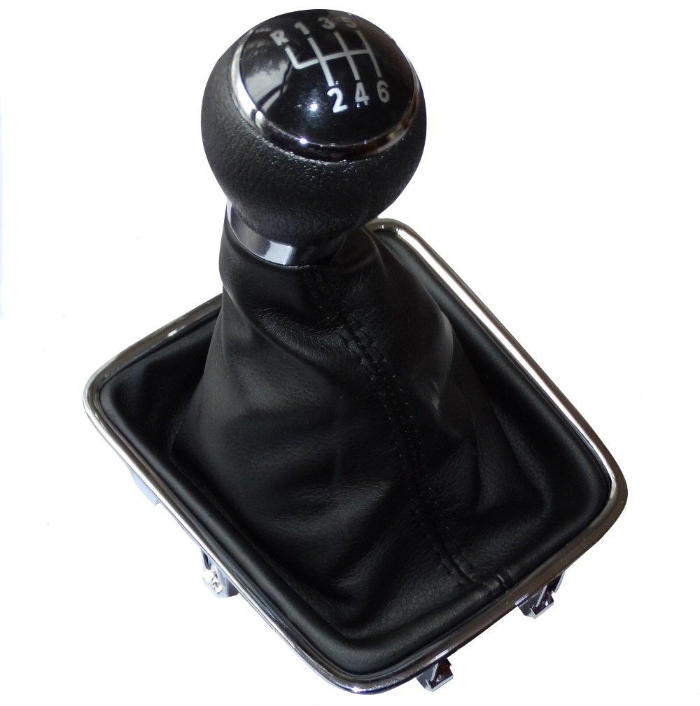Aerzetix - Pommeau soufflet et cadre de levier de vitesse 6 vitesses pour auto voiture C15777 SK2-C15777-TOP26