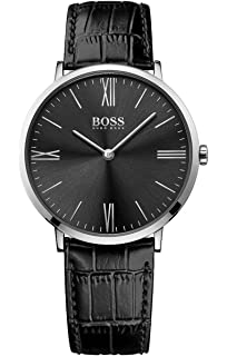 add7fca00e701 HUGO BOSS Men s Analogue Quartz Watch with Leather Strap – 1513369