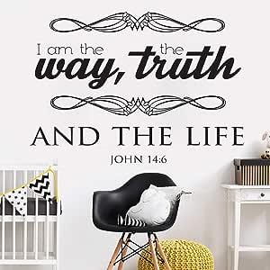 Ajcwhml El Evangelio de Juan Pone una Cita en la Pared: Yo Soy la Verdad del Camino y la Vida de la Biblia.: Amazon.es: Hogar