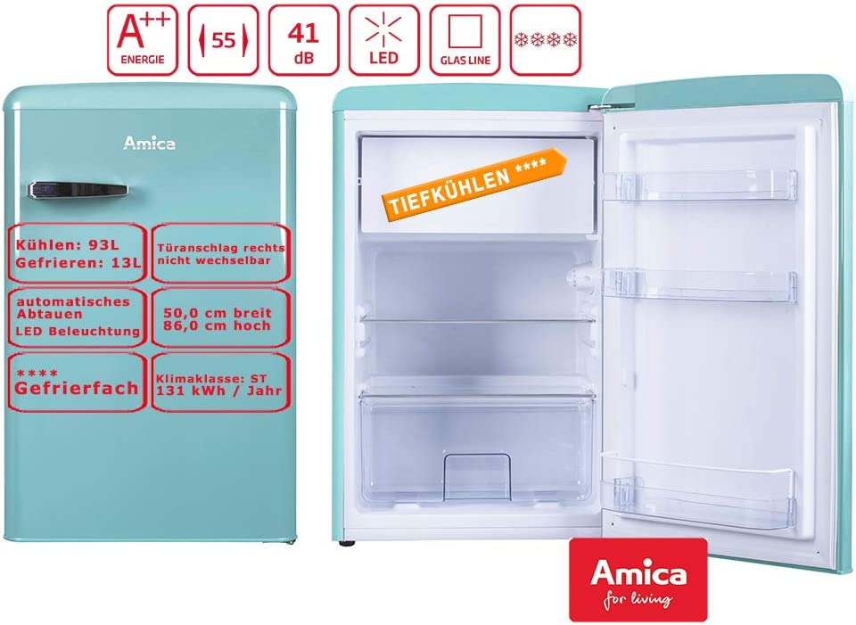 Amica KS15612T nevera y congelador Independiente Azul A++ ...
