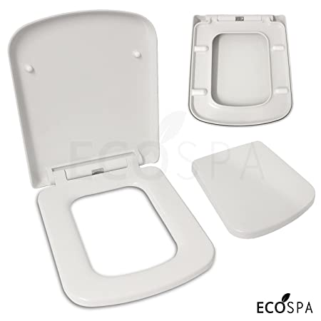 square toilet seat uk. Luxury Square Design Toilet Seat  Soft Close One Button Release Top Fixing Hinges