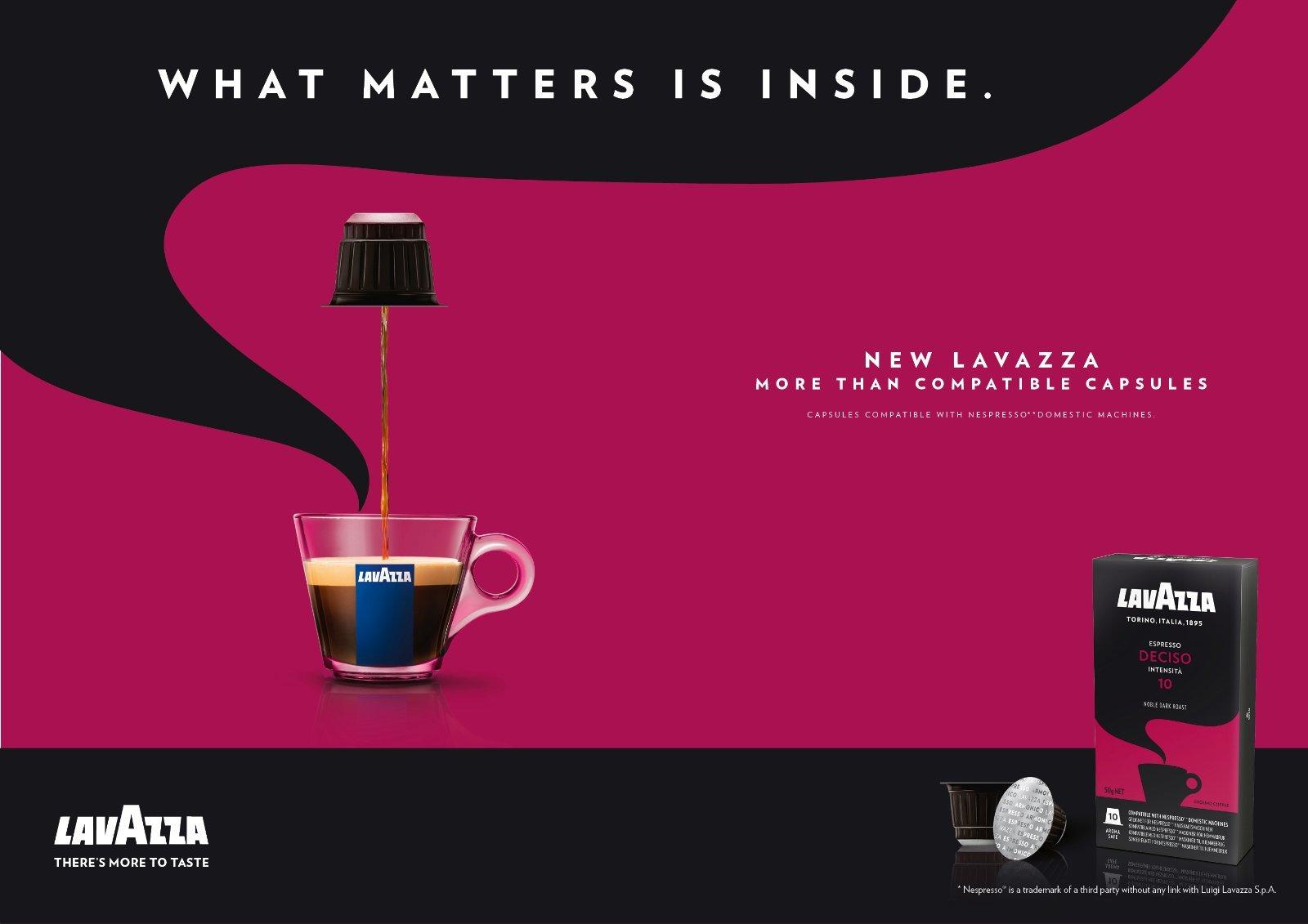 80 x LAVAZZA - Nespresso OriginalLine Compatible Capsules - ESPRESSO DECISO - Intensity 10