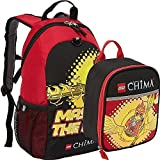 Lego Chima Master the Fire Backpack and Lunch Box Bag Set Kit