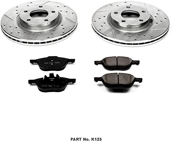 Power Stop K1352 Front and Rear Z23 Evolution Brake Kit with Drilled//Slotted Rotors and Ceramic Brake Pads