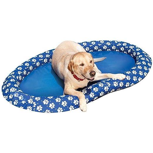Hamkaw Juguete Inflable para Perro, Hinchable Colchonetas Piscina, Azul